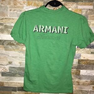 Armani Exchange green polo size small